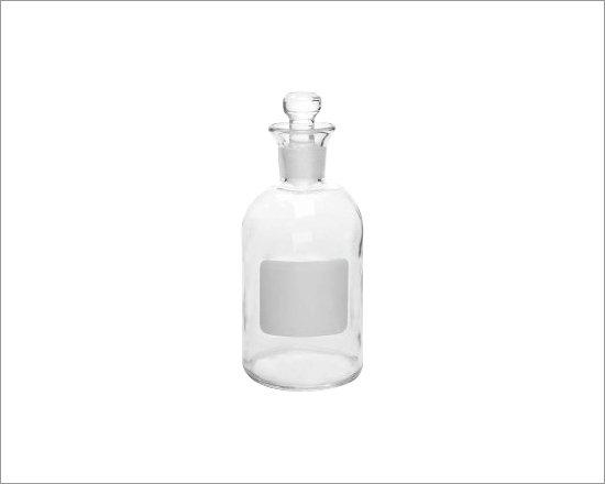 Frasco de vidrio transparente cuello esmerilado reachem for Vidrio plastico transparente precio